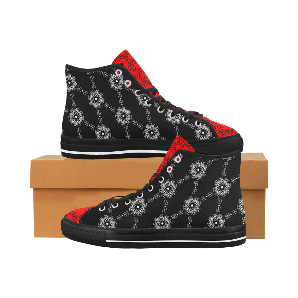 BB Diamond Print (Red Tongue) High Tops