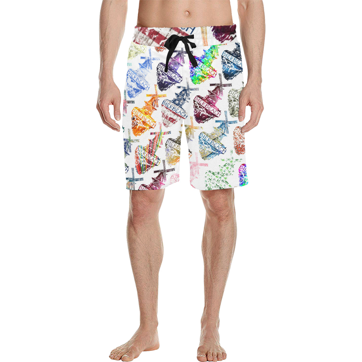 Bierbeach Logo All Over White Trunks