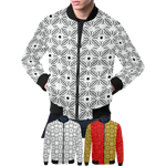 BB Sacred Geometry Print Bomber Jacket