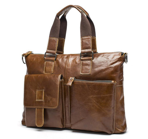 genuine leather mens briefcase