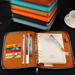 Leather Spiral Notebook and Planner