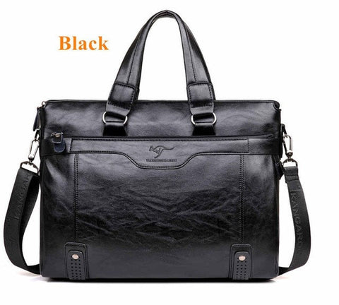 Men's Leather Casual Briefcase