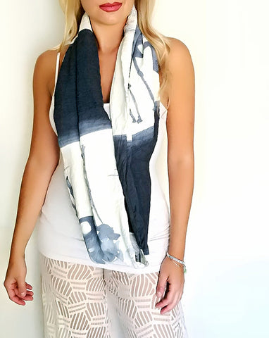 Flamingo fabric Infinity scarf front view