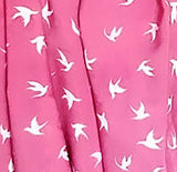 Large Infinity Scarf - Pink Doves Print