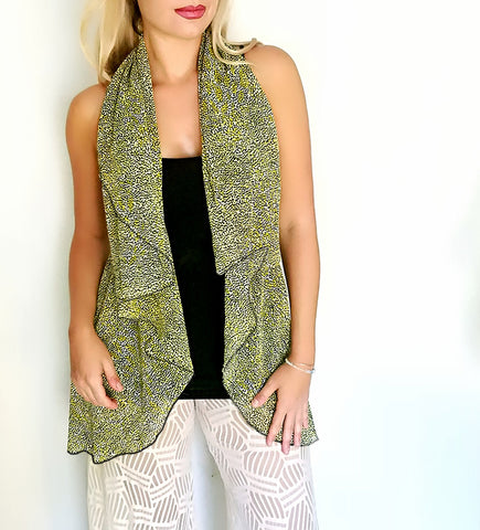 Medium Length Infinity Vest - Tiny Dots