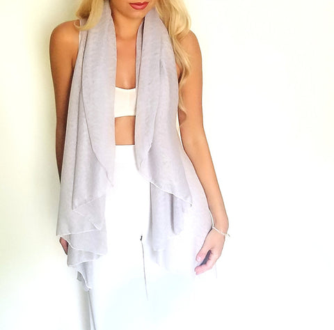 Lilac infinity vest front view