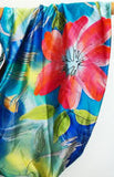 100% Silk Infinity Looper Scarf, one of a kind, Floral