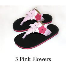 Swicharoos 3 Pink Flowers Uppers with Black Soles