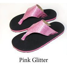 Swicharoos Pink Glitter Uppers with Black Soles