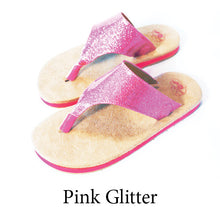 Swicharoos Pink Glitter Uppers  with Tan Soles