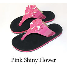 Swicharoos Pink Shiny Flower Uppers with black soles