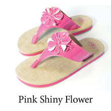 Swicharoos Pink Shiny Flower Uppers  with Tan Soles
