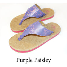 Swicharoos Purple Paisley Uppers with Tan Soles