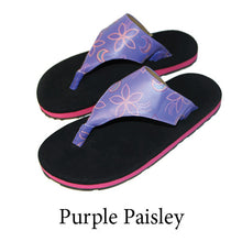 Swicharoos Purple Paisley Uppers with black soles