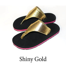 Swicharoos Shiny Gold Uppers  with black soles
