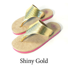 Swicharoos Shiny Gold Uppers  with Tan Soles
