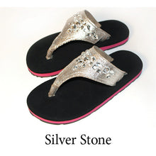 Swicharoos Silver Stone Uppers with Black Soles