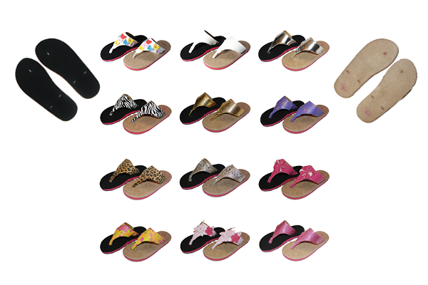 Swicharoos Complete Set with 12 Fashionable Uppers and a set of both Black and Tan Soles