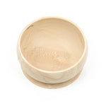 Wood Silicon Suction Bowl