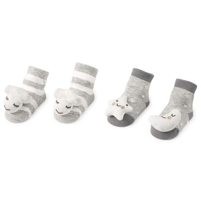 GREY SHEEP <BR> RATTLE TOE SOCKS