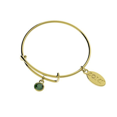 KIDS BIRTHSTONE BRACELET <BR> GOLD