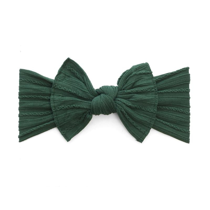 Cable Knit Bow | Forest Green