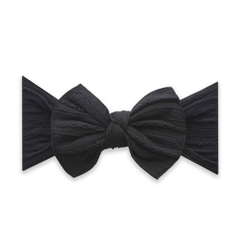 Cable Knit Bow | Black