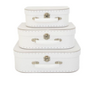 Set of 3 Suitcase <BR> White