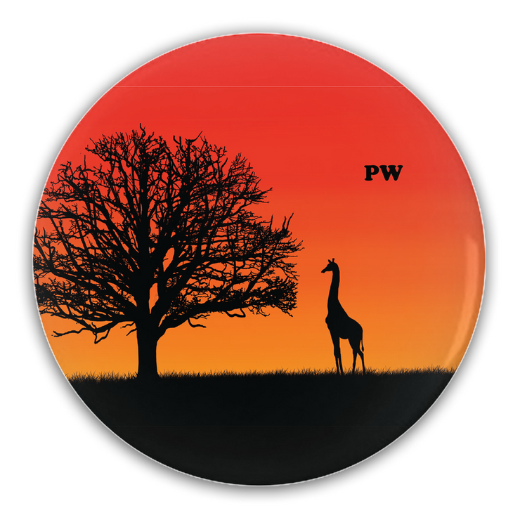 Giraffe Sunset Button