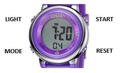 SKMEI 1100 Watch Face with Button Description