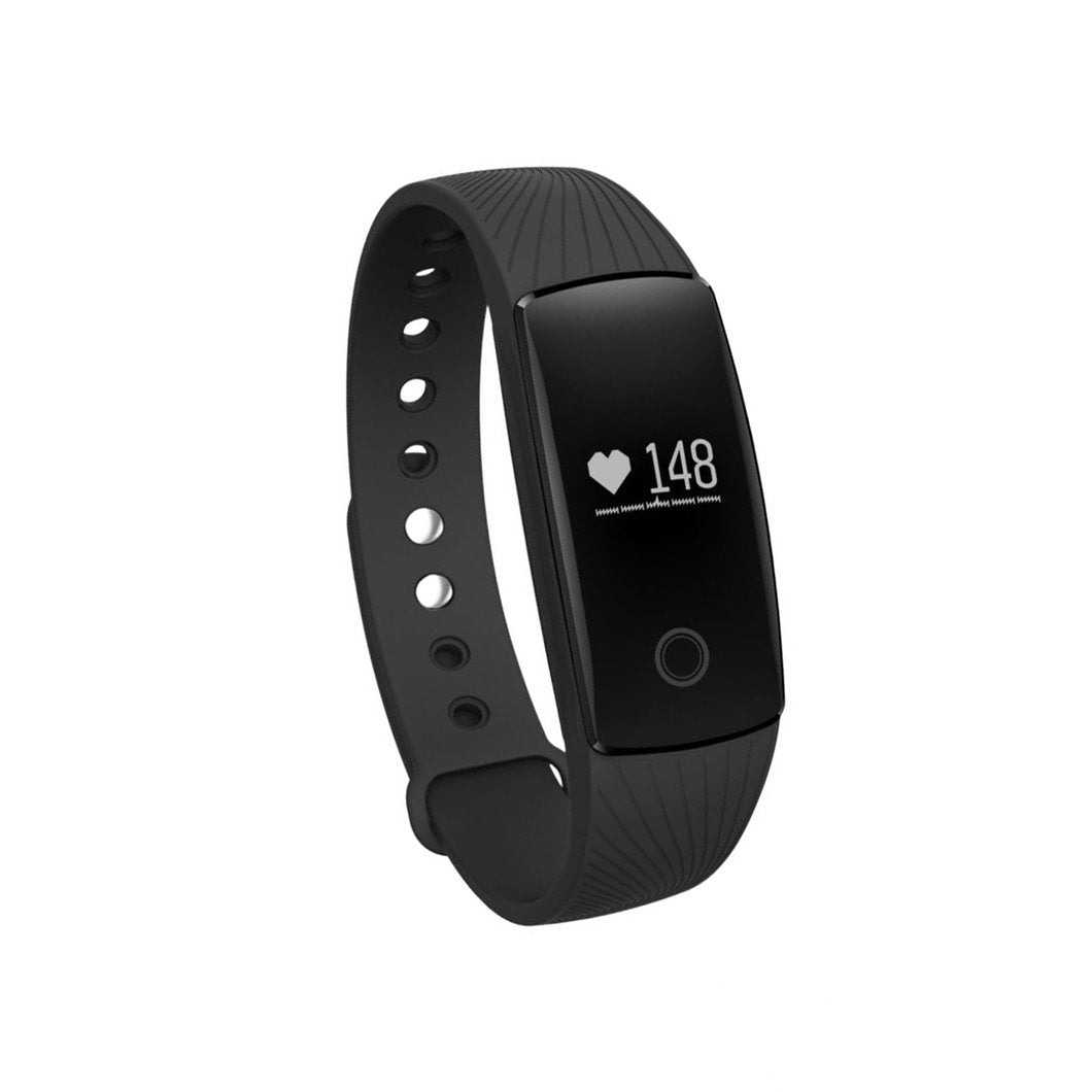Boys and Girls Fitness Tracker Watch with Side Button - Black - from Kids Watches NZ