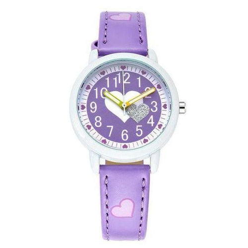 Girls Love Heart Watch - Purple - from Kids Watches NZ