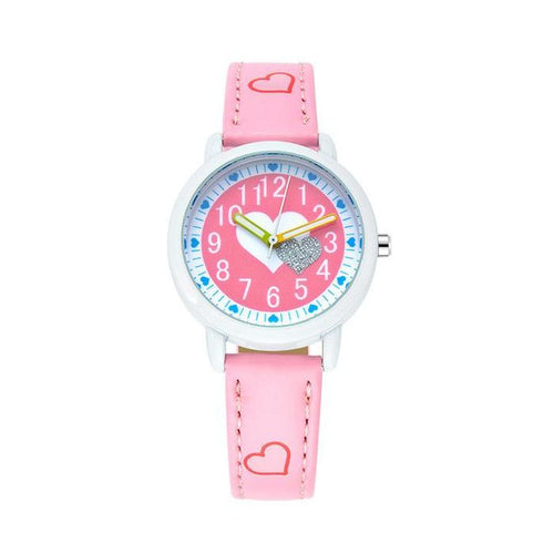 Girls Love Heart Watch - Pink - from Kids Watches NZ