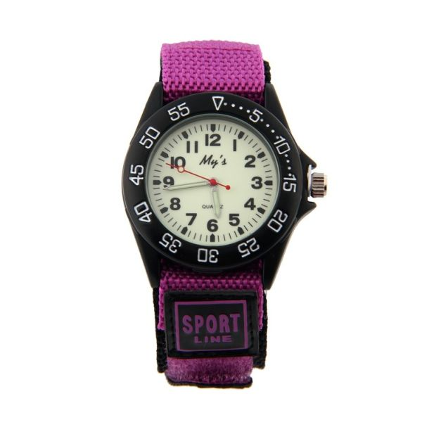 Girls Nylon Strap Watch with Glow in the Dark Numbers (Free Express Delivery)