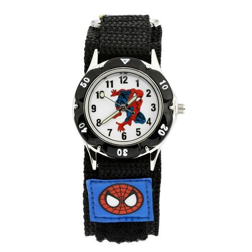 Spiderman Watch with Nylon Strap - Black Strap - from Kids Watches NZ