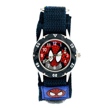 Spiderman Watch with Nylon Strap - Blue Strap - from Kids Watches NZ