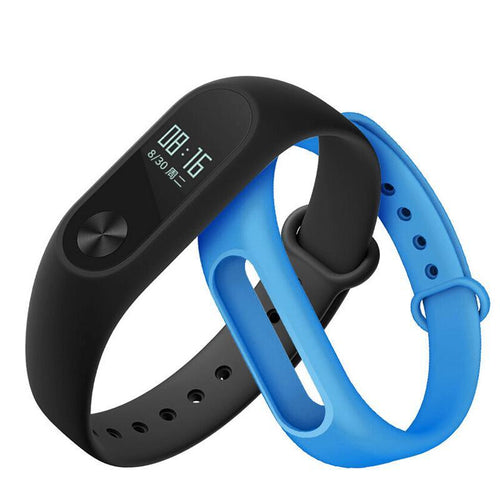 Quality Brand Boys & Girls Fitness Tracker Watch with Bluetooth - Light Blue  (Free Black Strap) - from Kids Watches NZ