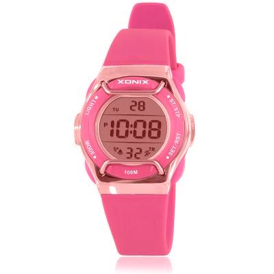 Xonix Digital Sports Watch with Face Guard - Pink - from Kids Watches NZ