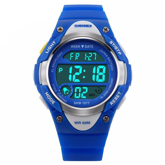 Boys and Girls Sporty Digital Watch - Blue - from Kids Watches NZ