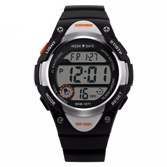 Boys and Girls Sporty Digital Watch - Black - from Kids Watches NZ