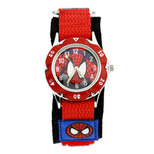 Spiderman Watch with Nylon Strap - Red Face - from Kids Watches NZ