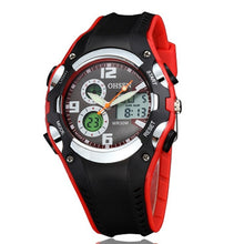 Multi Function Digital & Analogue Sports Watch - Red - from Kids Watches NZ