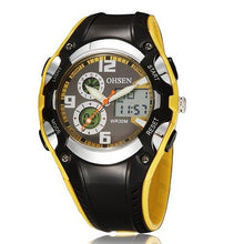 Multi Function Digital & Analogue Sports Watch - Yellow - from Kids Watches NZ