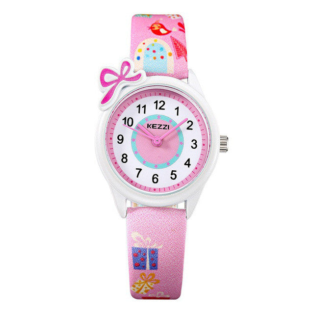 Cute Girls Watch with Bow - Pink - from Kids Watches NZ