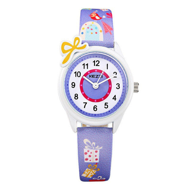 Cute Girls Watch with Bow - Purple - from Kids Watches NZ