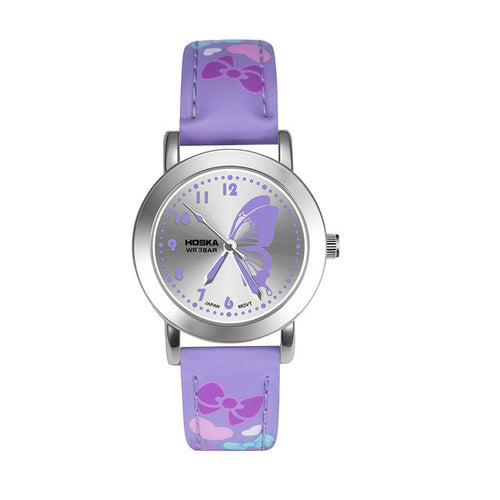 Girls Fashion Watch with Butterfly Design