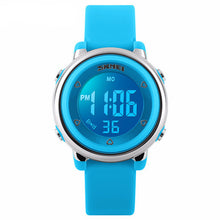 Bright Coloured Girls Digital Watch - Blue - from Kids Watches NZ