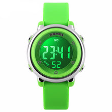 Bright Coloured Girls Digital Watch - Green - from Kids Watches NZ
