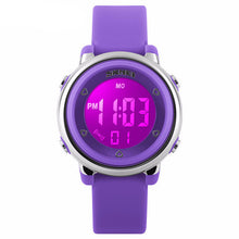 Bright Coloured Girls Digital Watch - Purple - from Kids Watches NZ