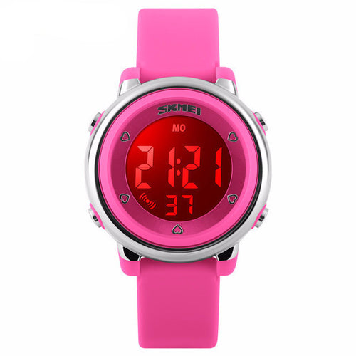 Bright Coloured Girls Digital Watch - Pink - from Kids Watches NZ